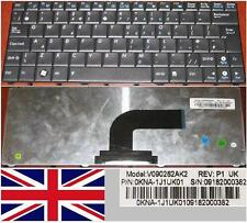 Clavier Qwerty UK ASUS N10 N10E N10J Eee PC 1101HA V090262AK2 0KNA-1J1UK01 Noir