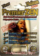 1x PREMIER ZEN MIRACLE ZEN PLATINUM Male Sexual Performance Enhancement ORIGINAL