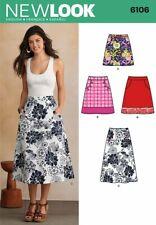 LOOK Womens Skirts Sewing Pattern Haberdashery Needlecraft Accessories 6106