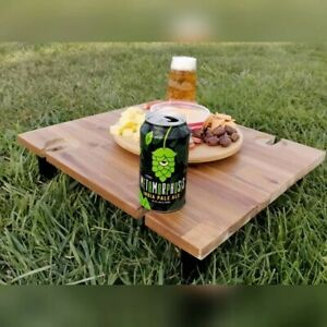 Picnic table beach table wine glass