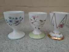 Shelley Porcelain China Bundle of 3 Egg Cups excellent condition