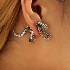 Women's Ladies 3D Alien Dinosaur Design Earrings Bone Charm Piercing Ear Stud