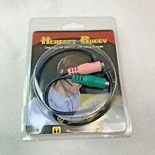 Headset Buddy PC Headset Dual 3.5mm To RJ9/RJ10/RJ22 Phone Adapter 01-PC35-RJ9A