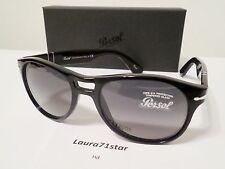 Persol 3155 54/18 Nero Black 104171 Crystal Gray Green occhiali sole sunglasses