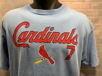 St Louis CARDINALS Baseball #7 HOLLIDAY T-Shirt Size L