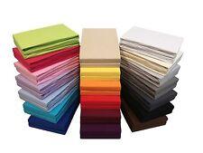 2er-Set Jersey Spannbettlaken Spannbetttücher Bettlaken - viele Farben & Größen