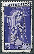 1930 REGNO USATO POSTA AEREA FERRUCCI 50 CENT - R8-9