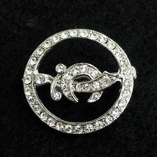Masonic Ladies Shrine Round Pin with Stones (P2349)
