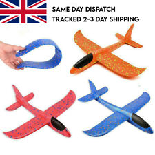 LARGE 47CM HAND THROW FOAM TOY PLANE AEROPLANES TOY GLIDER MODEL KIDS 2 MODES