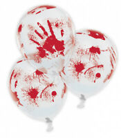 """6 x 11"""" Bloody Hand Printed Halloween Party Latex Balloons Decorations Props New"""