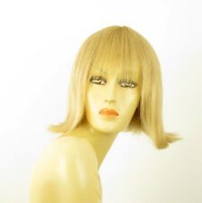 perruque femme 100% cheveux naturel mi-longue blonde ref FRANCOISE  22