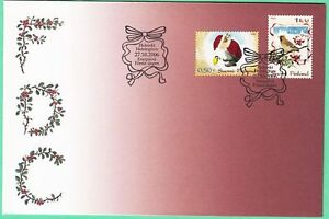 Christmas Brownie Feed Little Bird And Berries Finland Mint FDC 2006