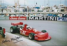 Arturo MERZARIO SIGNED FORD Monaco Grand PRIX GP 12x8 Photo AFTAL COA Autograph
