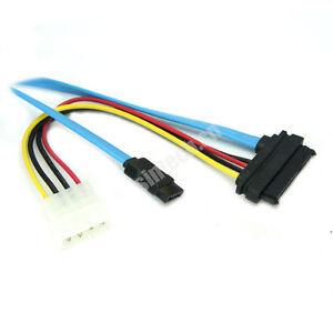 3pcs 29-Pin SAS HDD to 7-Pin SATA Serial ATA Connector +4Pin Power Adapter Cable