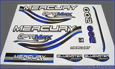 Mercury Optimax Bluewater 200 HP Outboard Decals Stickers Set 135 150 175 225 HP
