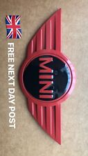 MINI CAR FRONT BONNET - 3D RED REPLACEMENT BADGE - ONE - WORKS  - COOPER - UK