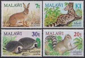 F-EX20495 MALAWI MNH 1984 WWF WILDLIFE SQUIRREL MWILI GOLOGOLO HYENA HEDGEHOG