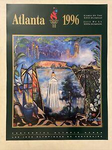 Vtg Deadstock Atlanta 1996 Olympics Poster Centennial Games William Tolliver Art