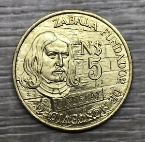 1976 Uruguay 5 Nuevo Pesos ~ High Grade Coin (FB1-105)