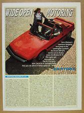 1987 Bertone X1/9 X19 red sports car color photo vintage print Ad