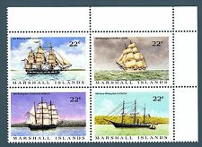 MARSHALL ISLANDS - 1987 - Barche a vela baleniere in visita alle isole.
