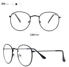 Man Women Black Vintage Eyeglass Frame Glassess Full Rim Plain Glass Spectacles
