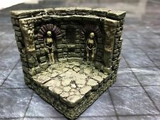 NEW Dwarven Forge Painted Resin 2 X 2 Catacombs Curved Wall with 2 Skeletons
