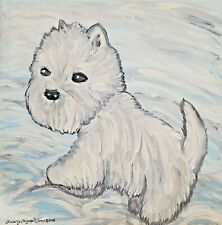 West Highland White Terrier Dog Art Print Westie Painting Gifts 4 x 6