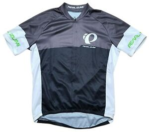 Pearl Izumi Select Cycling Jersey Large Black White Gray 3/4 Zip S/S Bicycle