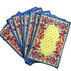 Williams Sonoma Provence Yellow Blue French Country 8 Placemats Bee Butterfly