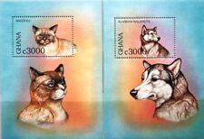 GHANA 1997 Block 334-35 S/S 1992-2A Katzen Cats domestic Animals Fauna Tiere MNH