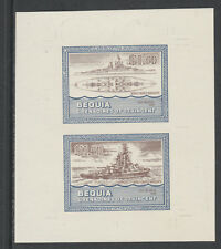 St Vincent  Bequia 5443 - 1985 WARSHIPS of WW2  $1.50 USS NEVADA  COLOUR TRIAL