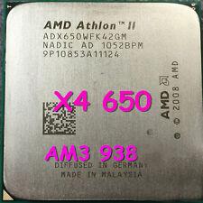 AMD Athlon II X4 650 ADX650WFK42GM 3.2GHz 4-core Socket AM3 95W CPU Processor