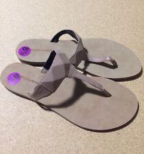 Rebecca Minkoff Eloise Studded Leather Thong Sandal, Beige, size 8 1/2