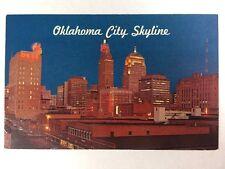 Oklahoma City Skyline, Oklahoma Ok OG&E Chrome Postcard Unused