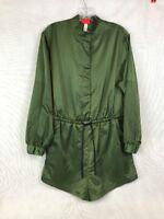 Hunter for Target Women's Zip Front Tie Waist Long Sleeve Romper Jumpsuit Olive