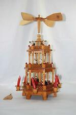 Vintage German Christmas Carousel Candle Windmill Weihnacht Nativity Pyramid