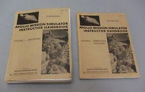 NASA Apollo Mission Simulator Instructor Handbooks 1965, 2 Volumes SM6T-2-02