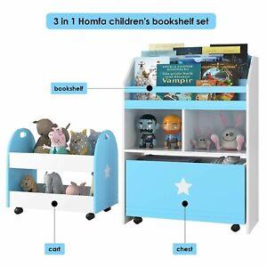 3 stk Kinderregal mit Aufbewahrungsboxen Bücherregal Spielzeugkiste Kinderzimmer