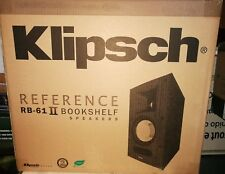 NEW Klipsch Reference RB-61 II Bookshelf Black speakers - Pair (Black)