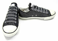 Converse Shoes Chuck Taylor Ox All Star Shimmer Black Sneakers Men 6 Women 8