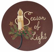 Country Season Of Light Wooden Plate Winter Snowflakes Christmas Farmhouse