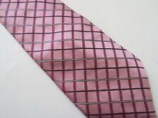 "JONES NEW YORK Pink Diamond Shape Mens Necktie 100% Silk 58"" Long"