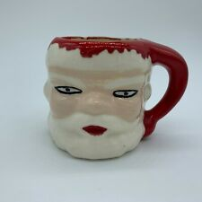 Vintage Ceramic Santa Face Mug Christmas Hot Cocoa Mug