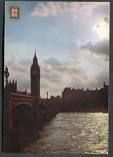 Posted 1983. View of Big Ben Clocktower & Westminster Bridge, London
