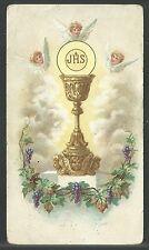 Estampa antigua del Caliz andachtsbild santino holy card santini