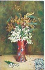 CPA -Postkarte  Carte fantaisie  pot de  fleurs  repro tableau peinture 1906