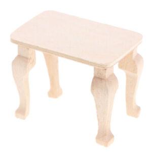 1:12 Dollhouse Miniature Accessories DIY Mini Wooden Table Doll House DecorJCBI