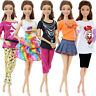 5 Handmade Outfit T-shirt Skirt Dress Pant Cute Clothes For 11.5 in. Girl Doll
