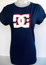 DC Shoes Logo Graphic Junior's Blue's T-Shirt Size XXLarge